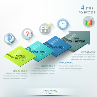 Nowoczesny baner opcje infografiki