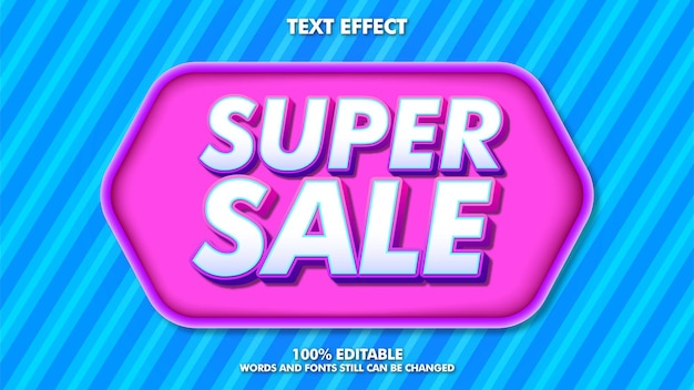 Nowoczesny baner sprzedaży z modnym tekstem do edycji