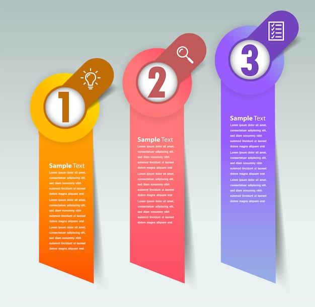 Nowoczesny baner szablonu pola tekstowego infografika