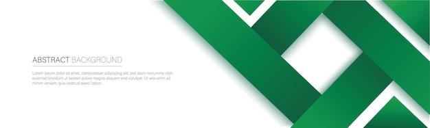 Nowoczesny baner zielonej linii
