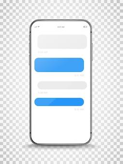 Nowoczesny bezramkowy smartfon z szablonem chet
