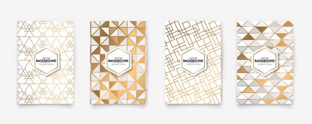 Nowoczesny biały i złoty wzór w stylu art deco geometria styl tekstura tło