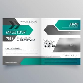 Nowoczesny biznes broszura broszury projekt