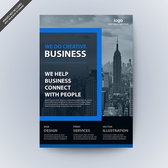 Nowoczesny biznes broszura makieta