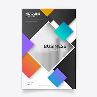Nowoczesny biznes broszura szablon