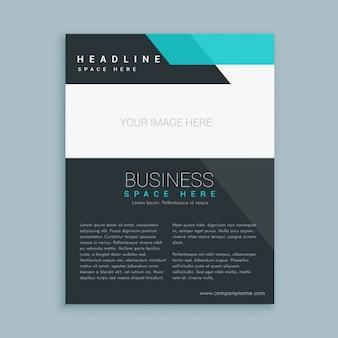 Nowoczesny biznes broszura ulotka wzór