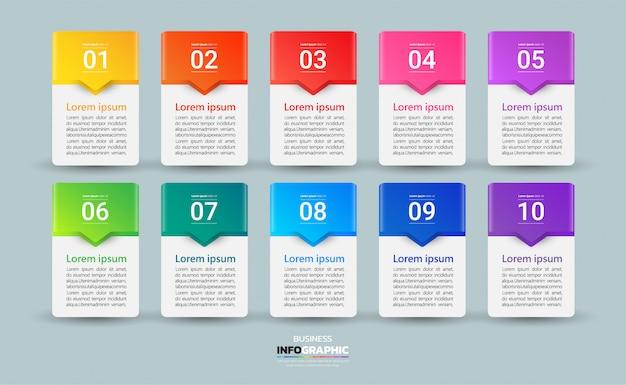 Nowoczesny biznes infographic 10 kroków