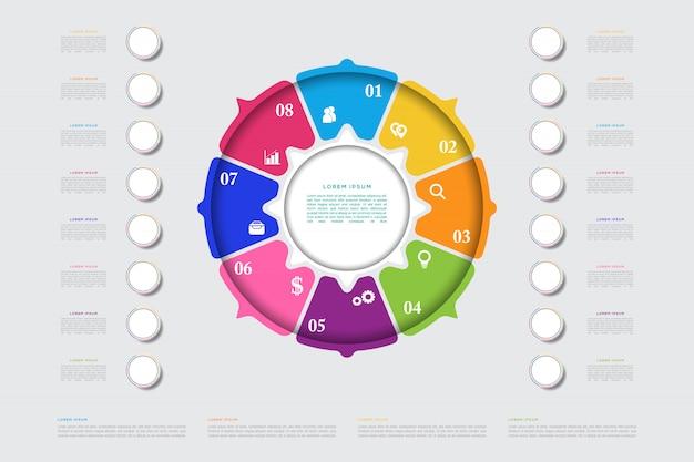 Nowoczesny biznes infographic element szablonu