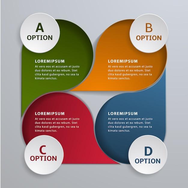 Nowoczesny biznes infographic szablon 4 opcja projektu.