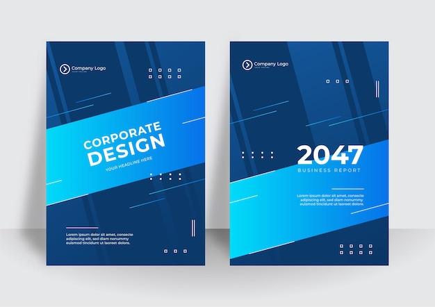 Nowoczesny biznes niebieski firmy okładki projekt tło. niebieskie cyfrowe współczesne okładki, szablony, plakaty, broszury, banery, ulotki. abstrakcyjne minimalne futurystyczne tła do projektowania technologii