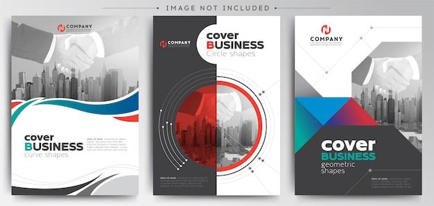 Nowoczesny biznes okładka broszura szablon