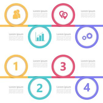 Nowoczesny biznes plansza timeline szablon projektu