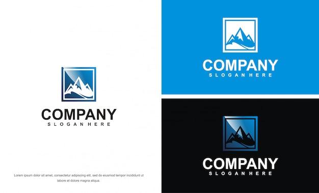 Nowoczesny biznes szablon logo mountain