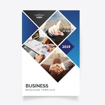 Nowoczesny biznes szablon ulotki