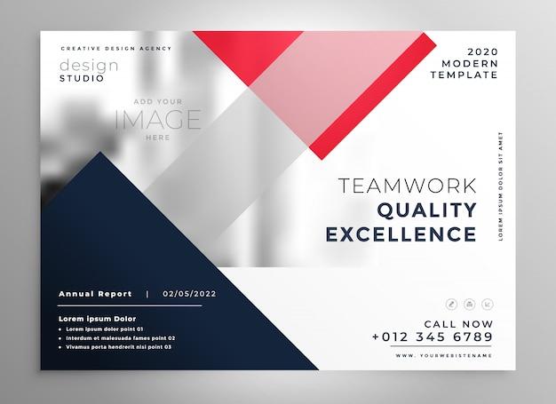 Nowoczesny biznes ulotki broszura szablon projektu