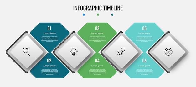 Nowoczesny biznesowy szablon infografiki z krokami