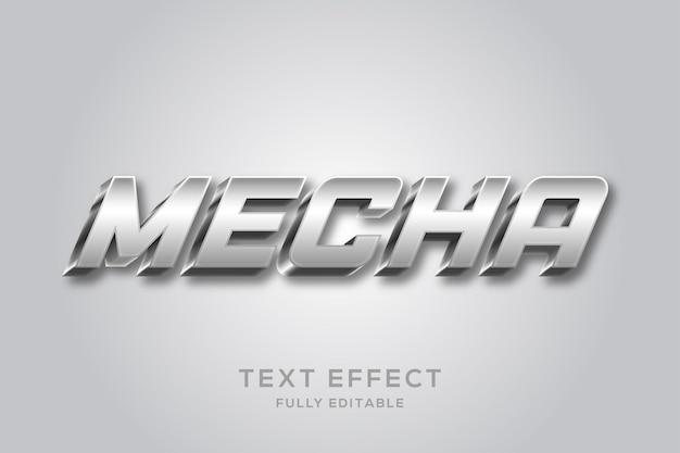 Nowoczesny, błyszczący srebrny efekt tekstowy