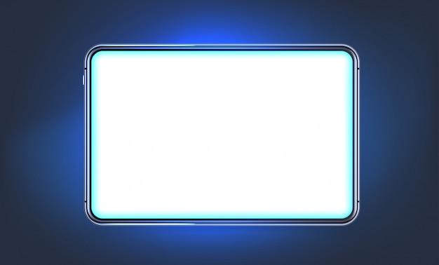 Nowoczesny błyszczący tablet z pustym ekranem