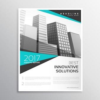 Nowoczesny broszura biały i niebieski raport roczny szablon projektu okładki