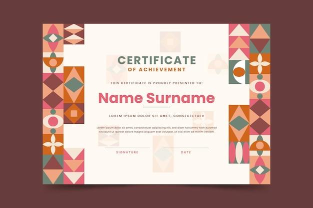 Nowoczesny certyfikat osiągnięć