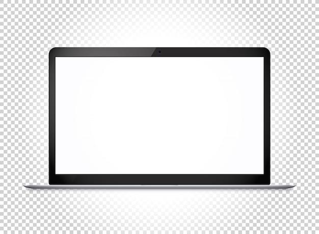 Nowoczesny cienki laptop z szerokim ekranem.