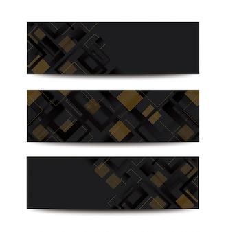 Nowoczesny Czarny Kwadrat Gradientu Modne Tło Premium Wektorów