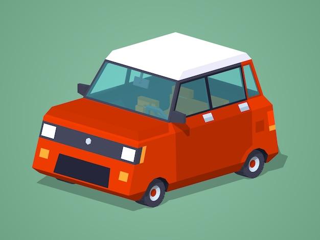 Nowoczesny czerwony hatchback