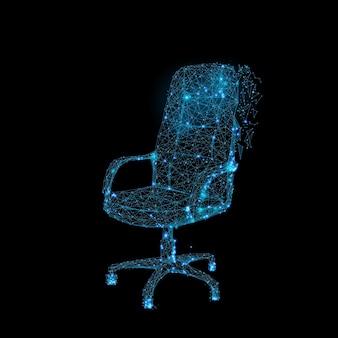 Nowoczesny Design Krzesła Biurowego Premium Wektorów