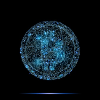 Nowoczesny design logo bitcoin