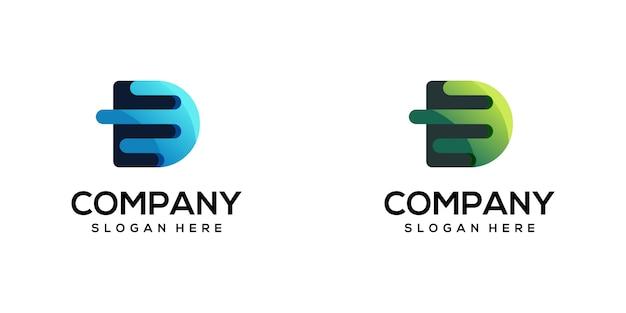 Nowoczesny design logo litery d.