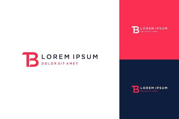 Nowoczesny design logo lub monogram lub inicjały liter tb