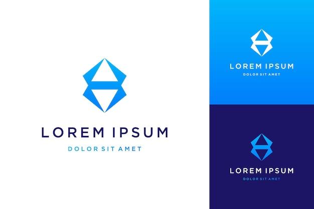 Nowoczesny design logo lub przycisk w górę iw dół