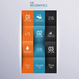 Nowoczesny design minimalny szablon infografiki - może być używany do infografiki, numerowanych banerów, poziomych linii wycinania, grafiki lub strony internetowej.