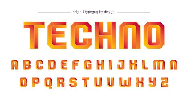 Nowoczesny design pomarańczowy typografii