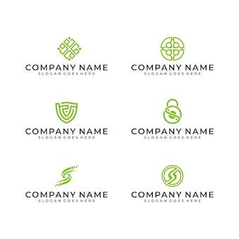 Nowoczesny design zielone logo