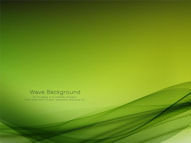 Nowoczesny design zielonej fali