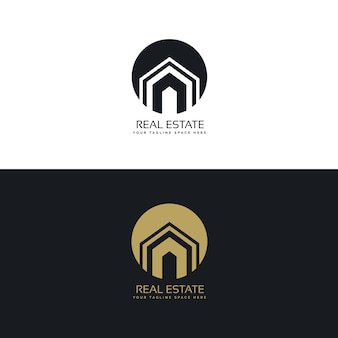 Nowoczesny dom lub projekt logo domu