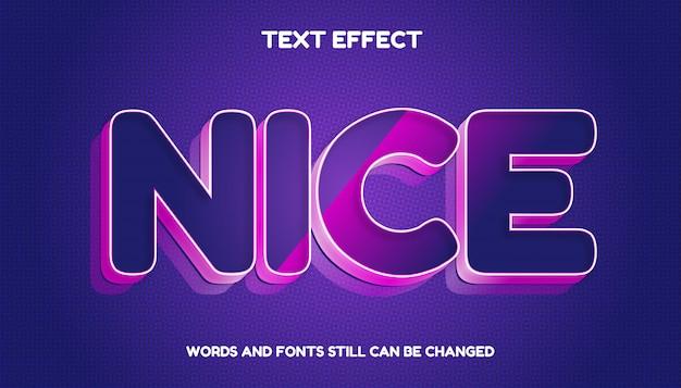 Nowoczesny edytowalny efekt tekstowy 3d z kolorem gradientu