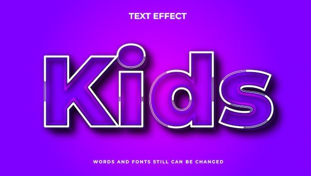 Nowoczesny, edytowalny efekt tekstowy dla dzieci z kolorem gradientu