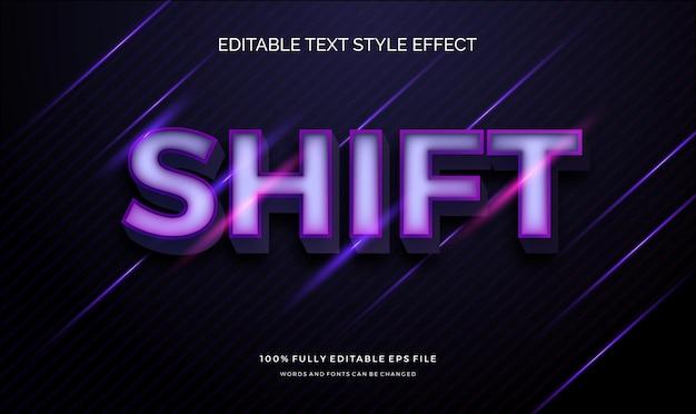 Nowoczesny edytowalny efekt tekstowy z błyszczącym, żywym nowoczesnym kolorem