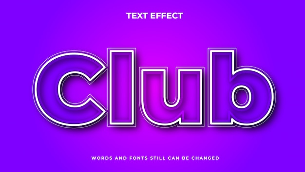Nowoczesny edytowalny efekt tekstowy z kolorem gradientu