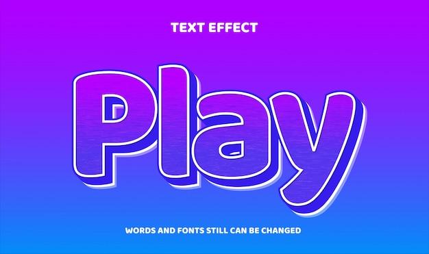 Nowoczesny edytowalny efekt tekstowy z teksturą