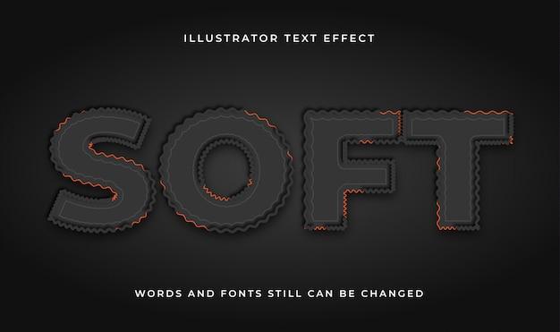 Nowoczesny edytowalny efekt tekstowy