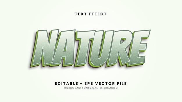 Nowoczesny efekt czcionki nature