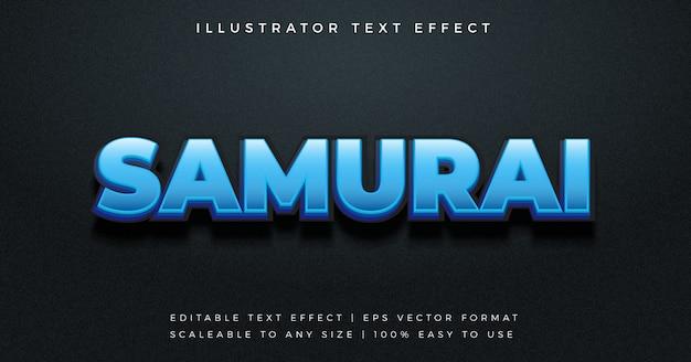 Nowoczesny efekt czcionki w stylu tekstu samurajskiego