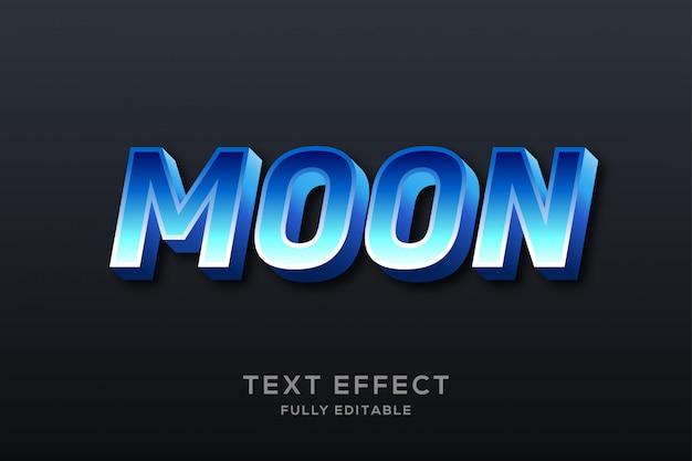 Nowoczesny efekt czystego niebieskiego tekstu