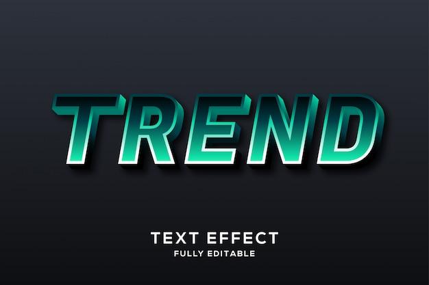 Nowoczesny efekt czystego zielonego tekstu