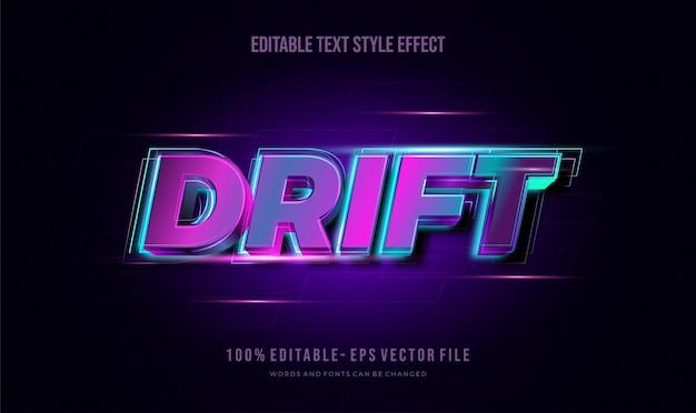 Nowoczesny efekt edytowalnego stylu tekstu. edytowalny styl czcionki.