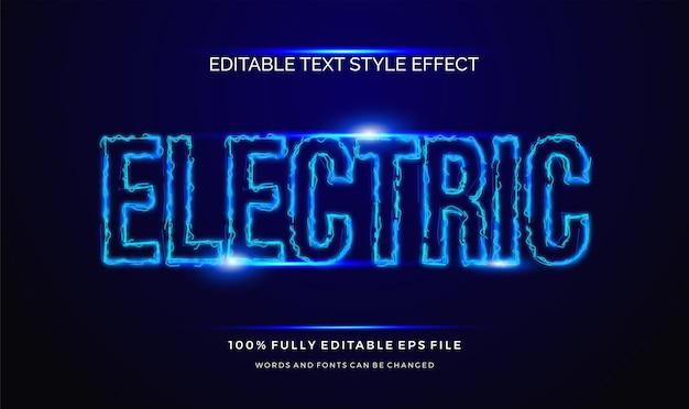 Nowoczesny efekt edytowalnego stylu tekstu. zarys elektryczny
