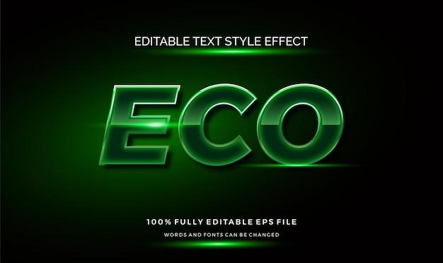 Nowoczesny efekt edytowalnego stylu tekstu zielonego. edytowalny styl czcionki.